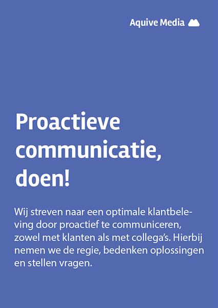Visie posters - Proactieve communicatie 4